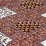 Multi Brown Floral Single Bedsheet Closeup
