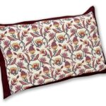 Multi Brown Floral Single Bedsheet with One Pillow Covers