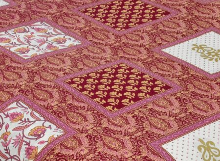 Multi Pink Floral Single Bedsheet Closeup