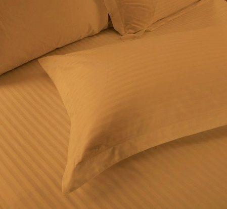Mustard Gold Satin Pure Cotton King Size Bedsheet Closeup