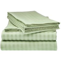 Pista Green Satin Pure Cotton King Size Bedsheet Closeup