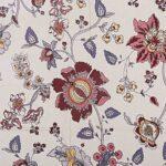 Reddish Floral Pattern King Size Bedsheet Close View