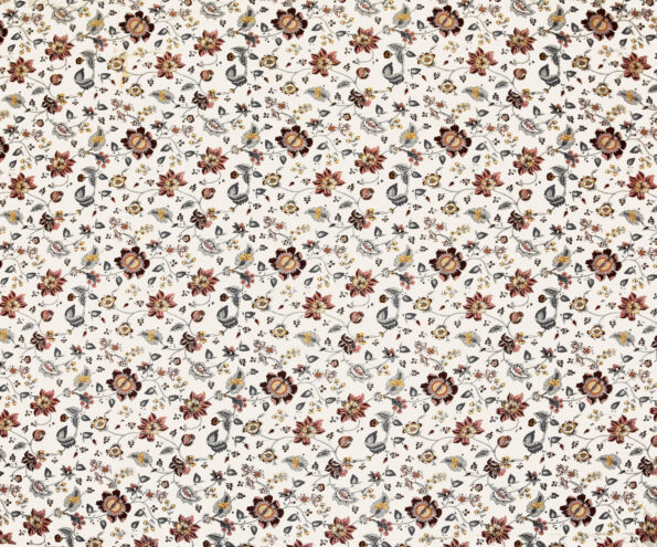 Reddish Floral Pattern King Size Bedsheet Full View