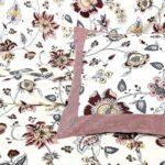 Reddish Floral Pattern King Size Bedsheet Pillow Close