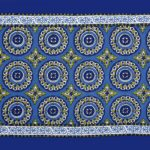 Blue Traditional Badge Single Bedsheet Closeup