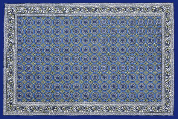 Blue Traditional Badge Single Bedsheet Full View