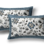 Blueish Floral Pattern King Size Bedsheet Pillow Covers