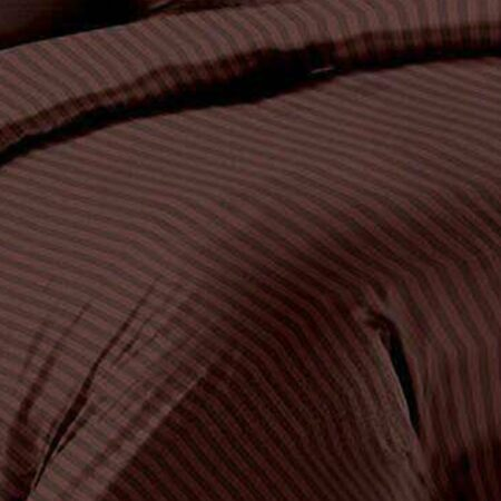 Dark Brown Satin Pure Cotton King Size Bedsheets Close View