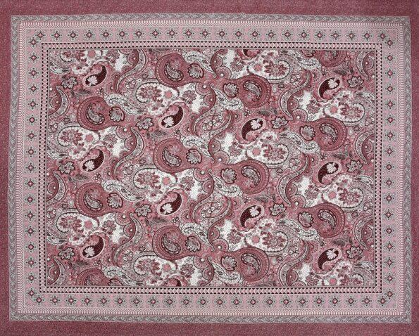 Dark Cherry Beautiful Floral Print King Size Bedsheet Full View