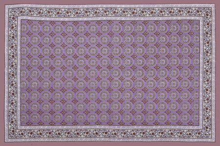 Light Violet Traditional Badge Single Bedsheet Full View