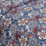 Awesome Mausam Blue Flower Print Pure Cotton Double Bedsheet Side view