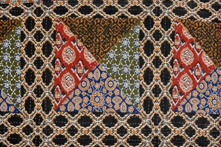 Dark Brown Triangle Print Single Bed Sheet Closeup