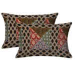 Dark Brown Triangle Print Single Bed Sheet Pillow Cover