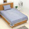 Ethnic Jaipuri Charm Blue Single Bed Sheet