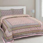 Ethnic Jaipuri Charm Pink Double Bed Sheet