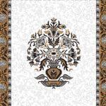 Ethnic Jaipuri Flower Print Pure Cotton King Size Bedsheet Closeup
