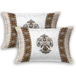 Ethnic Jaipuri Flower Print Pure Cotton King Size Bedsheet Pillow