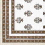 Ethnic Jaipuri Flower Print Pure Cotton King Size Bedsheet Sideview