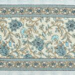 Ethnic Jaipuri White base Flower Print Pure Cotton King Size Bedsheet Closeup