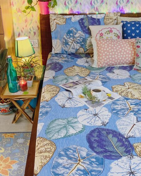 Indian Fabrico King Size pure cotton Bedsheet