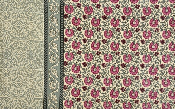 Pink Floral Print Single Bed Sheet Side view