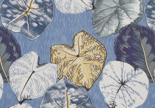 Sky Iveta Abolina Alocasia Print King Size Bedsheet Closeup