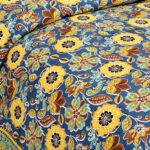 Awesome Mausam Yellow Flower Print Pure Cotton Double Bedsheet Sideview
