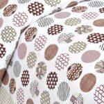Beautiful White Base Circle Print King Size Bedsheet