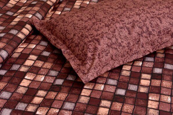 Procian Cotton Cherry Boxy Beauty Double Bedsheets Closeup
