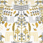 Artistic Modern Yellow Jaipuri Print Double Bedsheet