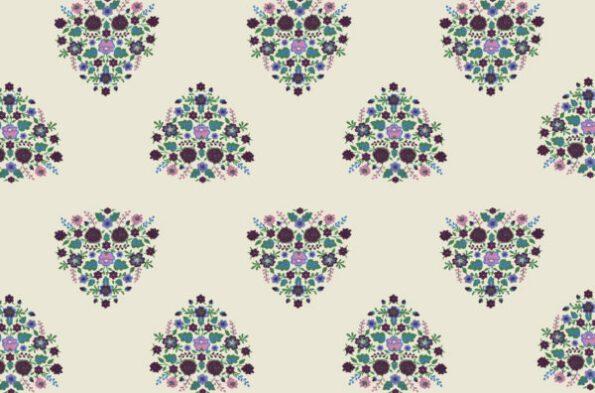 Beautiful Bouquet King Size Bedsheet Closeup