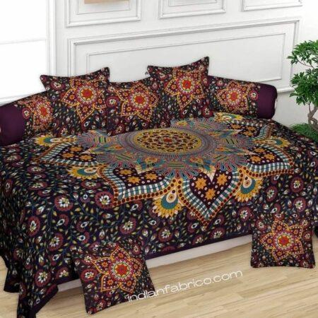 Colorful Mandala Tapestry Diwan Set
