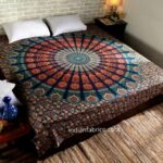 Colorful Mandala Tapestry Double Bedsheet with 2 Pillow Covers