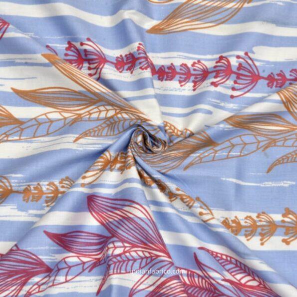 Deep Aquatic Sky Blue King Size BedSheet Close