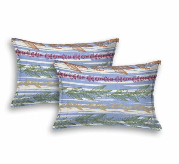 Deep Aquatic Sky Blue King Size BedSheet Pillow Covers