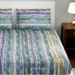 Deep Aquatic Sky Blue King Size BedSheet with Two Pillow Covers