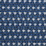 Indigo Dark Blue Wave Shape Pure Cotton Reversible Double Bed Dohar
