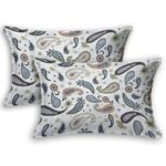 Paisley Blueish Grey Print King Size Bedsheet