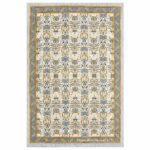 Artistic Modern Yellow Cream Jaipuri Print Single Bedsheet
