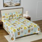 Cutest Kids Supersoft Double Bedsheet with 2 Pillow Covers