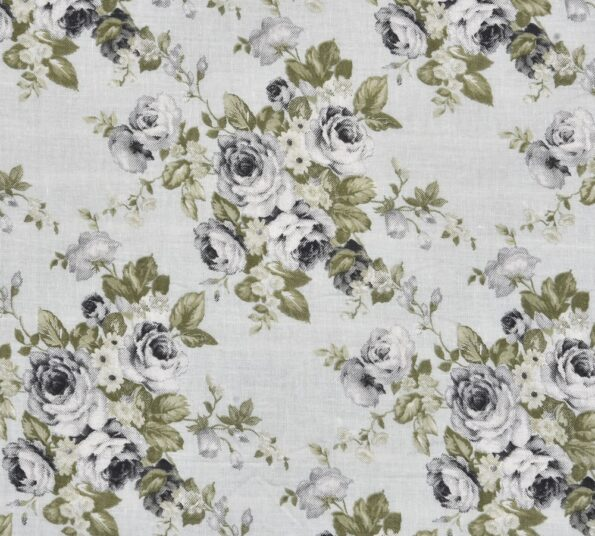 Indian Fabrico Flowers Bunch Pure Cotton Reversible Bed Dohar Front