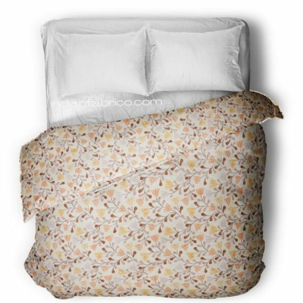 Indian Fabrico Lata Climber Cream Floral Double Bed Comforters