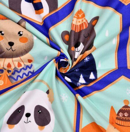 Panda Picachoo Supersoft Double Bedsheet Closeup
