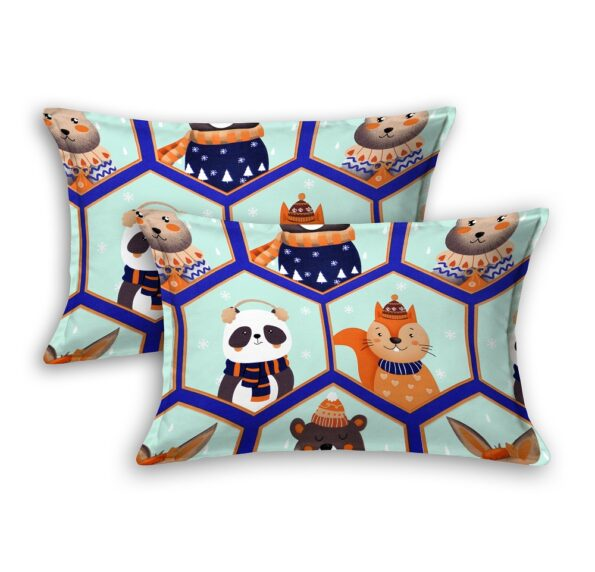 Panda Picachoo Supersoft Double Bedsheet Pillow Covers