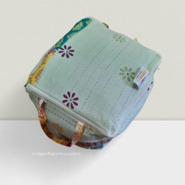 Pista Green Barmeri Pastel Pure Cotton Double Bed Comforter