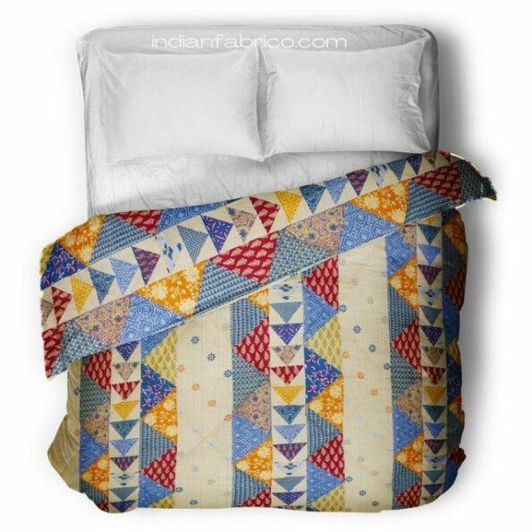 Premium Quality Barmeri Pastel Pure Cotton Double Bed Dohar
