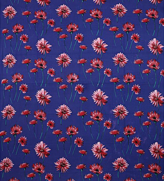 Sun Flower Blue Base Double Bedsheet Full view