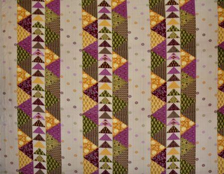 Barmeri Print Pink Patchwork King Size Bedsheet Full View