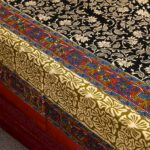 Beautiful Dark Black Floral Base Double Bedsheet with 2 Pillow Covers