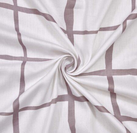 White Square Satin Cotton King Size Bedsheets